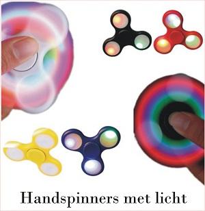 hand spinners met licht